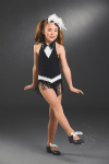 Fringed Leotard with Collar